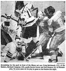 WHA's Philadelphia Blazers started life as the Miami Screaming Eagles. Herb Martin was the Eagle's owner and was the first man to sign away an NHL'er - the Leaf's Bernie Parent.