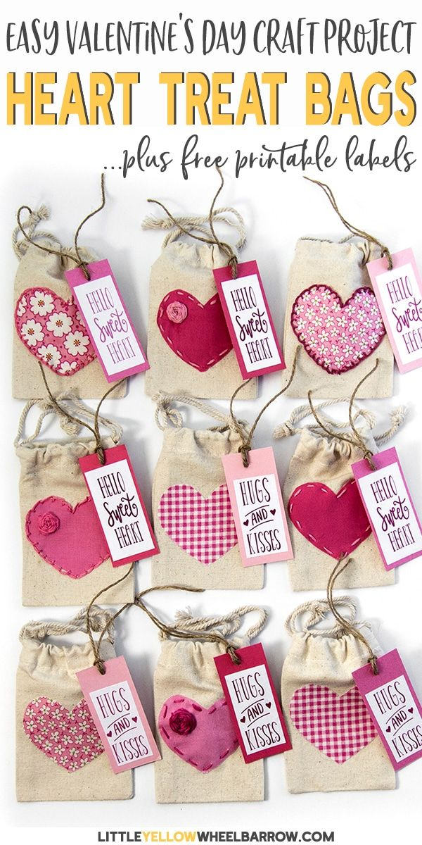 Valentine S Day Treat Bags With Free Printable Labels Valentine