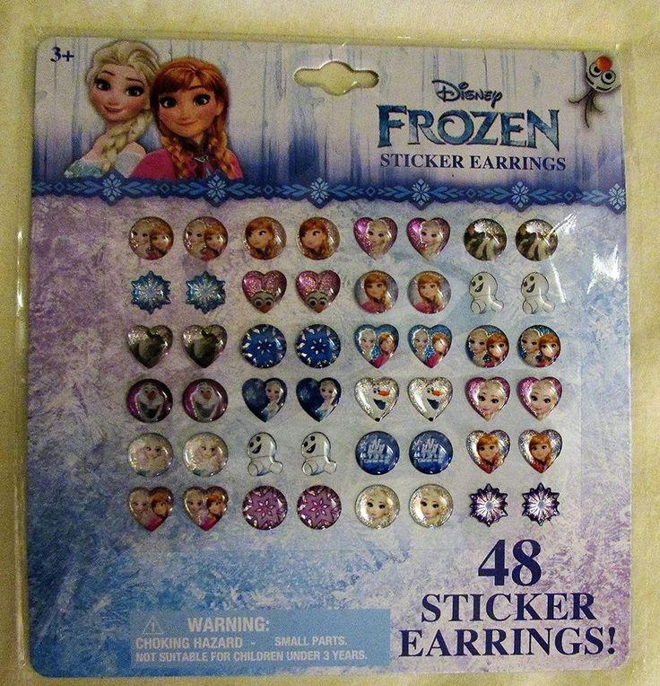 New Disney Frozen Sticker Earrings 48 Pieces Elsa, Olaf & Anna #Disney
