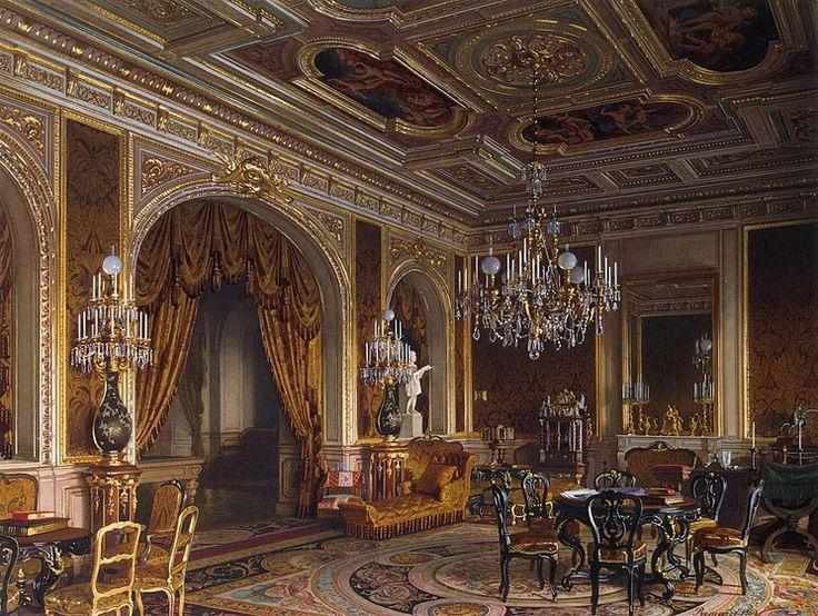 Luigi Premazzi  Mansion of Baron A.L. Stieglitz. The Main Study