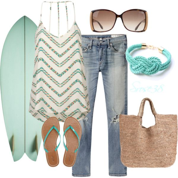 Surfer Girl, created by srose38 on Polyvore