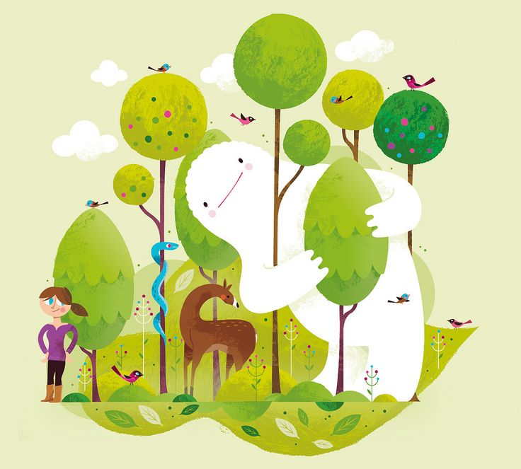 forest: Childlike Illustration, Fun Illustrations, Christian Lindemann, Ilustración Al, Collection Illustrations, Ilustracion, Forests Design, Graphics Design, Monsters