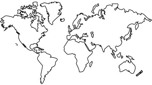 Line Art Map : Drawing world map hľadať googlom art