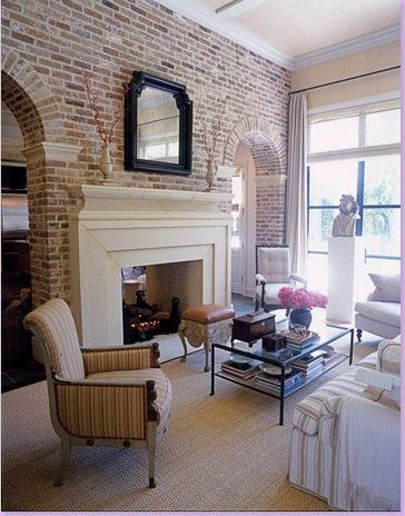 brick arches & that fireplace.