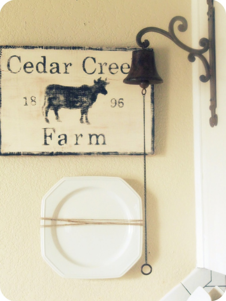 love the cow sign!  The Wicker House: Tour My Home