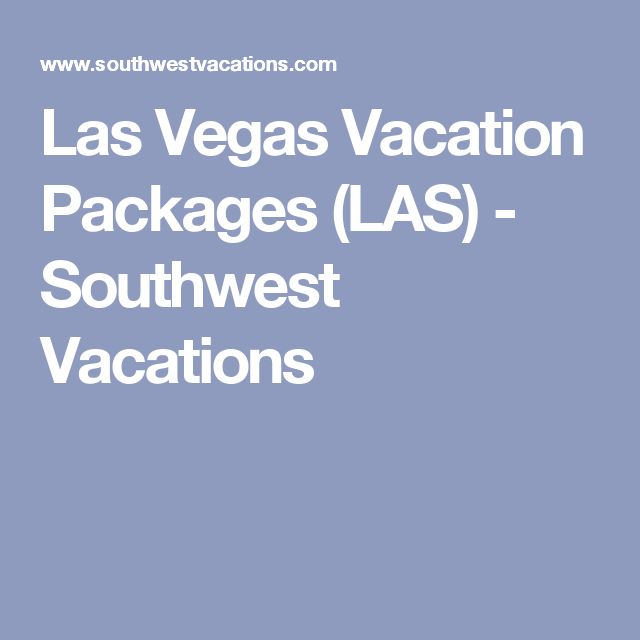 Vegas weekend deals from calgary