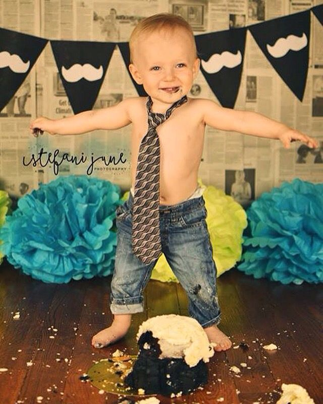 Little man cake smash photoshoot