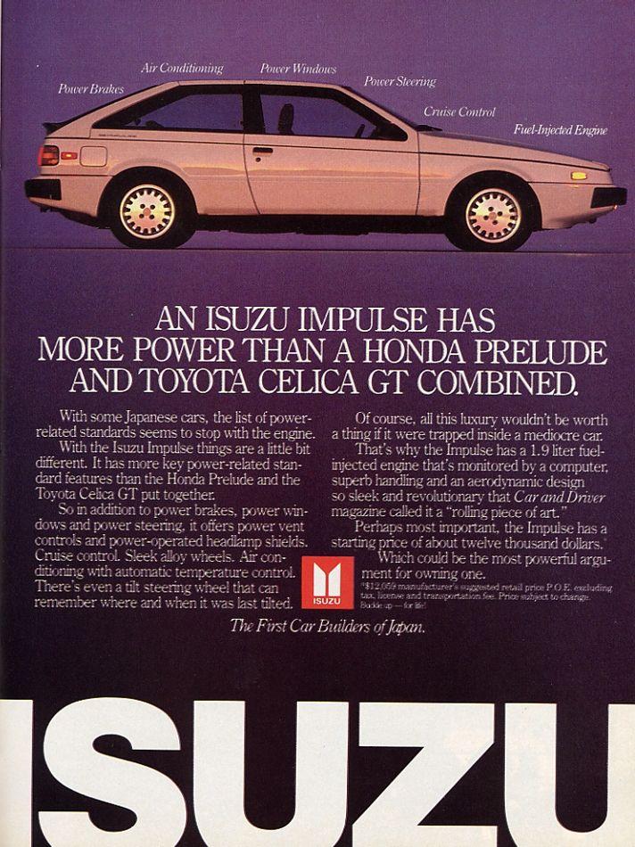 The Isuzu Piazza/Impulse Was An Ace Turbo Hatchback