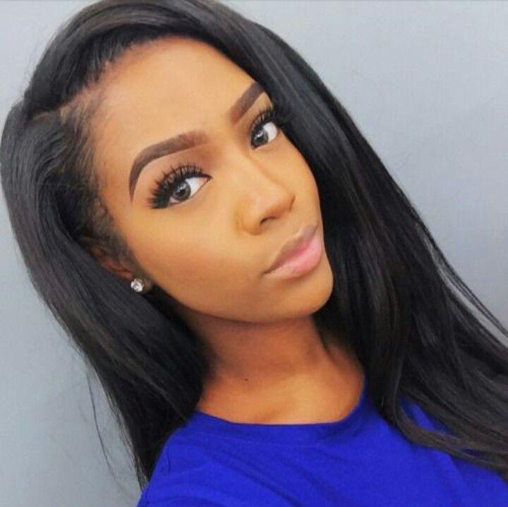 8 Best Middle Part Vs Side Part Images On Pinterest Hair Weaves