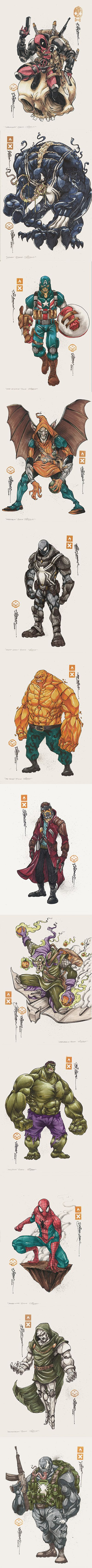 Groovy Marvel character art series by Clog-Two
