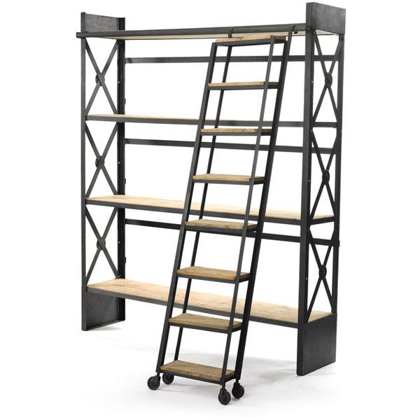 25 best ideas about Bookcase with ladder – Library Bookcase with Ladder