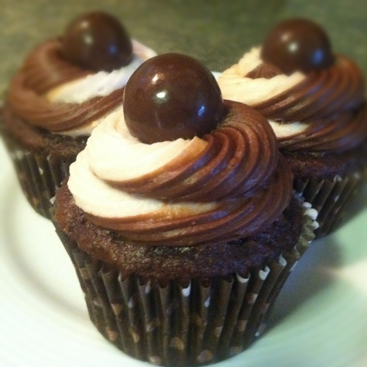 Chocolate Malt Cupcakes | Things I've made | Pinterest