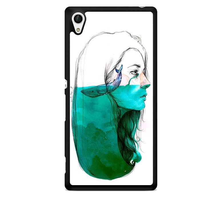 Whale Inside Mind TATUM-11877 Sony Phonecase-Abdeckung für Xperia Z1, Xperia Z2, Xperia Z3, Xperia Z4, Xperia Z5