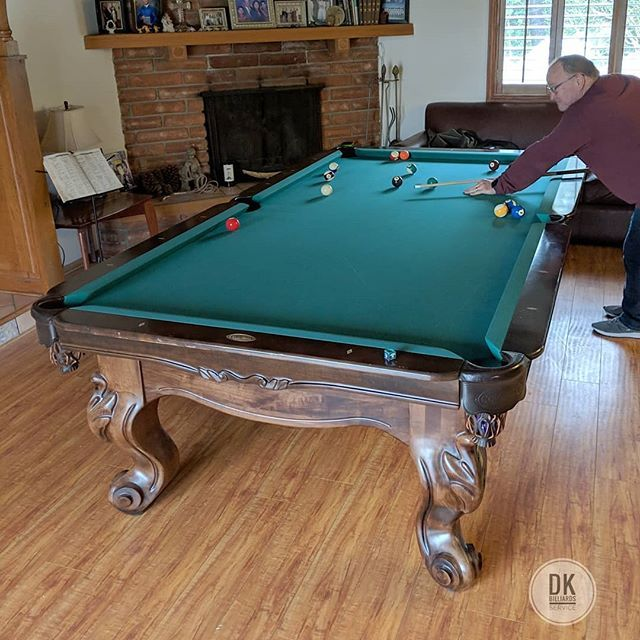 9 Foot Connelly Scottsdale Installed In Monrovia Tour Edition Championship Green Billiards Dkbilliards Playpool Mancave G Play Pool Billiards Pool Table