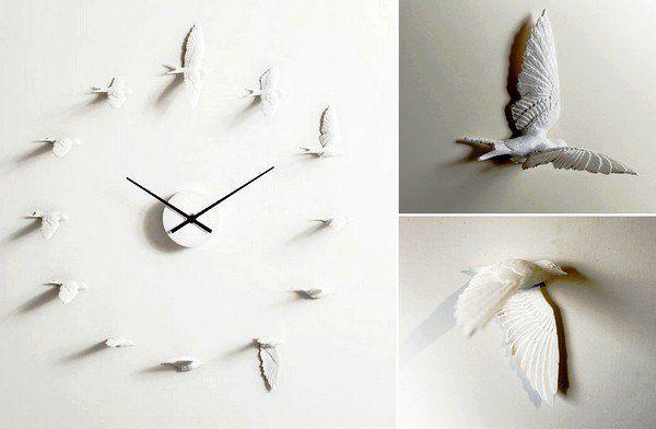 Настенные часы в виде птиц
