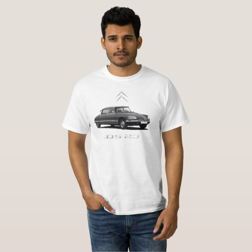 Citroën DS 23 black - white top, silver badges DIY  #citroends #citroen #automobile #classic #car #tshirt #ds23