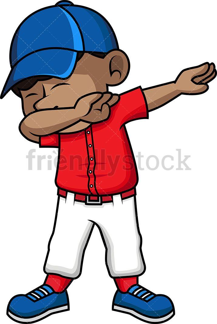 Black Kid Dabbing Cartoon Vector Clipart Friendlystock Cartoon Kids Kids Vector American Cartoons