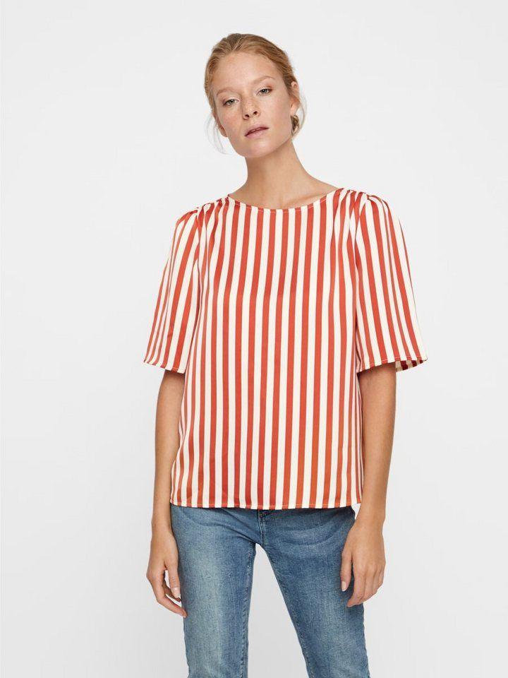 3a9f75d70660 Vero Moda Gestreiftes Oberteil mit kurzen Ärmeln | Fashion (latest ...
