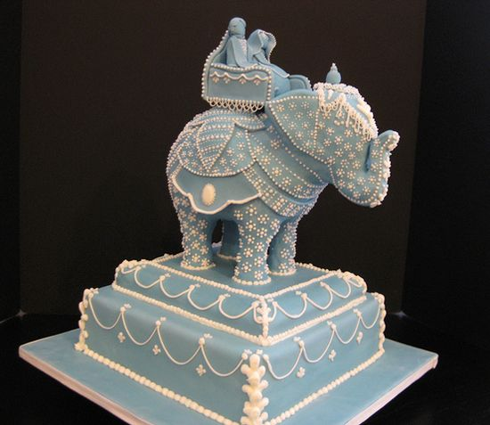 Sculpted elephant indian wedding cake ♥: Indian Cakes, Indian Blue, Indian Weddings, Indian Wedding Cakes, Indian Elephants, Get Married, Beautiful Cakes, Blue Elephants, Elephants Cakes