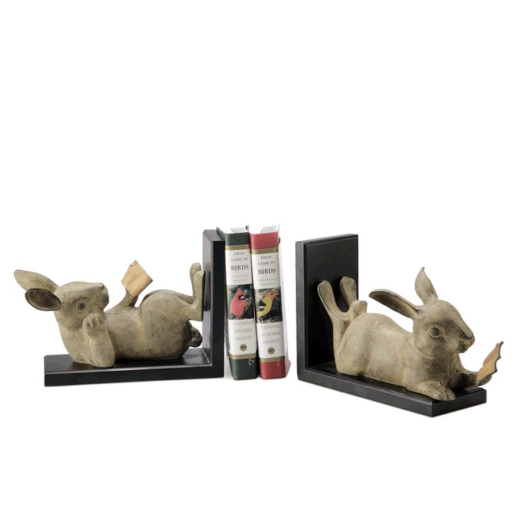 Two Reading Rabbits Bookends - Tittles & Bits
