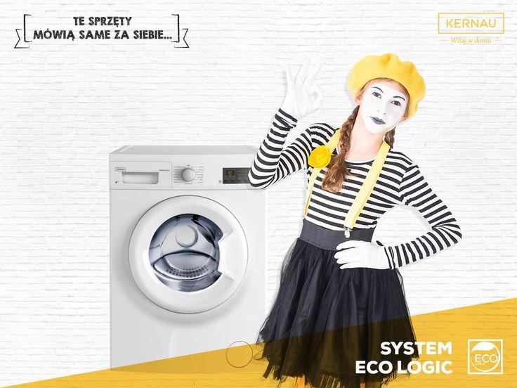 Nowoczesne rozwiązania to takie, które pomagają nam w codziennym działaniu. Nie inaczej jest z pralką, która w przypadku częściowego załadunku, zużyje mniej energii!: http://bit.ly/Kernau_KFWM754103
