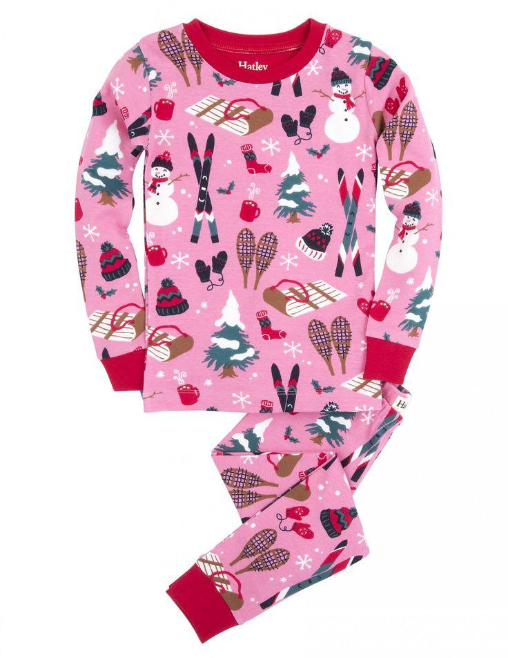 Hatley Dívčí pyžamo se zimními motivy - růžové, 369 Kč  #dárky #vánoce #děti #rodina #tip3dmámablog.cz