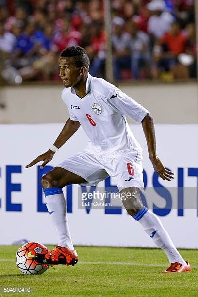 Yosel Piedra of Cuba drives the ball during the match between Cuba and Panama as part of the Copa America Centenario Qualifiers at Rommel Fernandez...