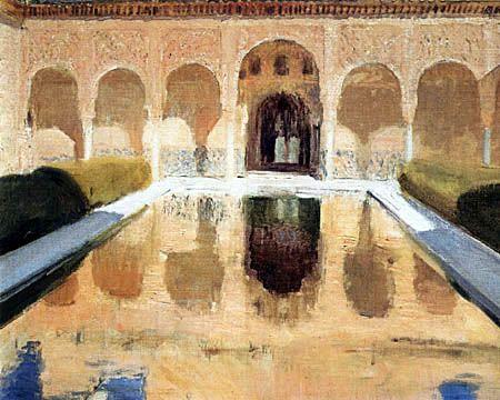 Patio de Comares, Alhambra de Granada, Joaquín Sorolla (1917)