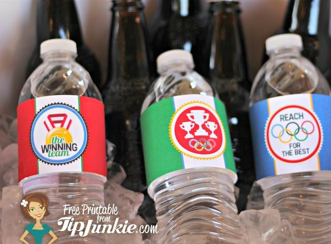 Olympic Water Bottle Label {Free Printable} | Olympics Crafts And
