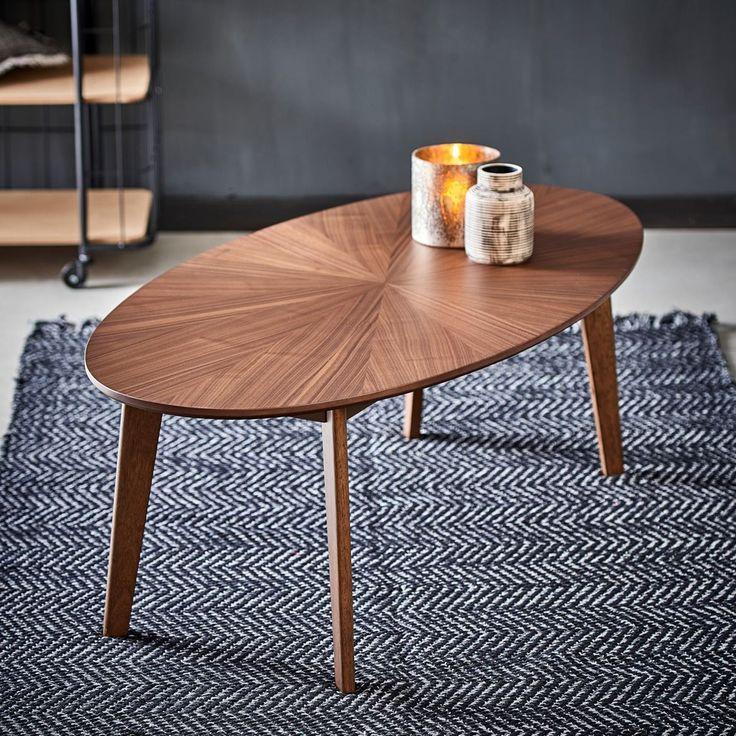 Rai Table De Salon Brun Brun Fonce H 40 X Larg 60 X Long 120 Cm
