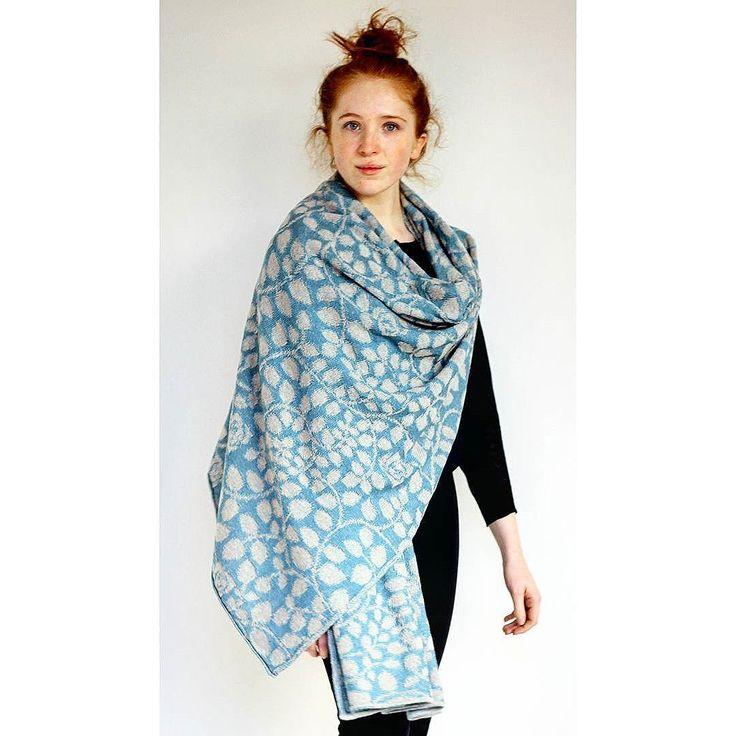 Fidelia, a large stole/wrap. 100% Merino Wool | McKernan Woollen Mills | Handmade scarves and accessories | Made in Ireland | Irish Design | Co. Clare | Weaving & Knitting