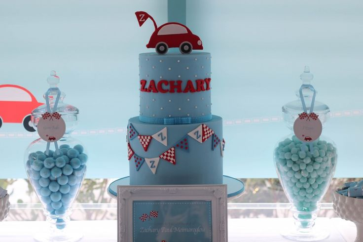 LITTLE RED CAR THEMED CHRISTENING #CAKE #BOYSPARTY #partyideas #partyinspiration