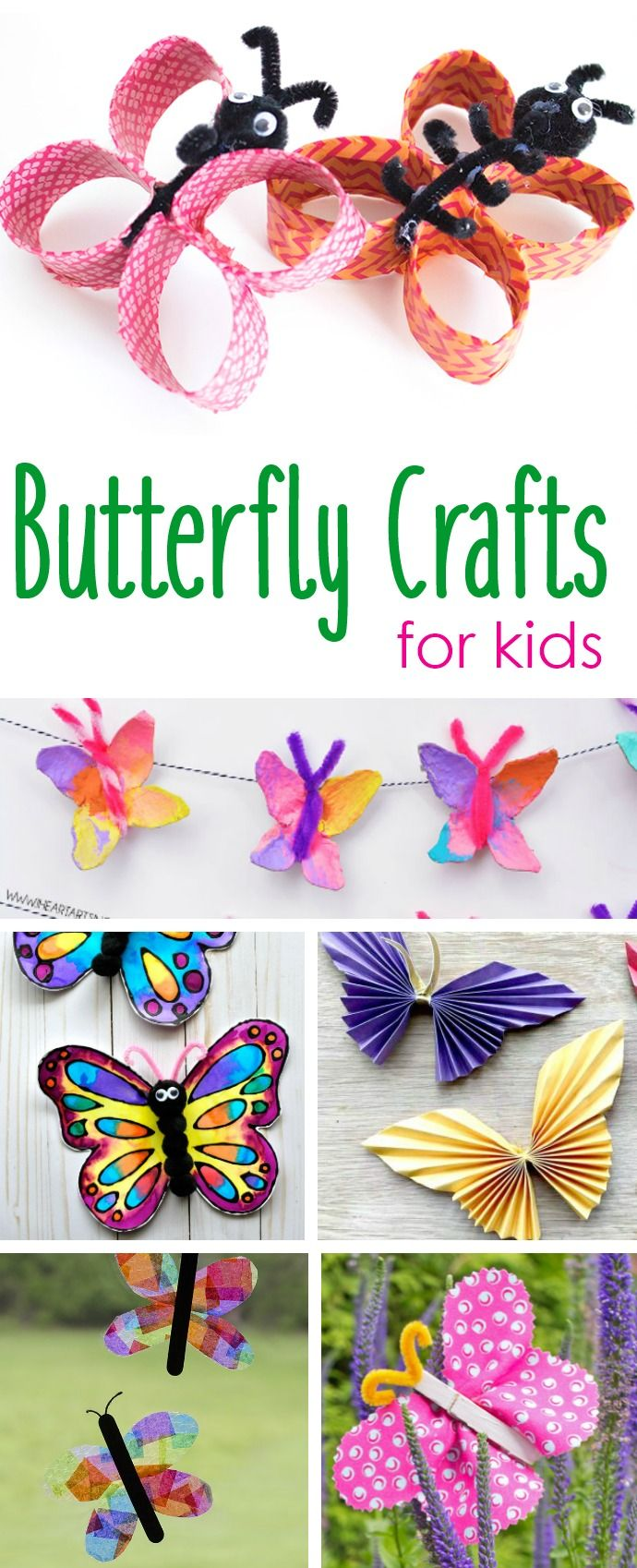15 FUN  & EASY BUTTERFLY PAPER CRAFTS FOR KIDS + E…