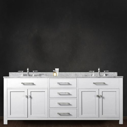 Water Creation Madison Pure White 72 Inch Double Sink