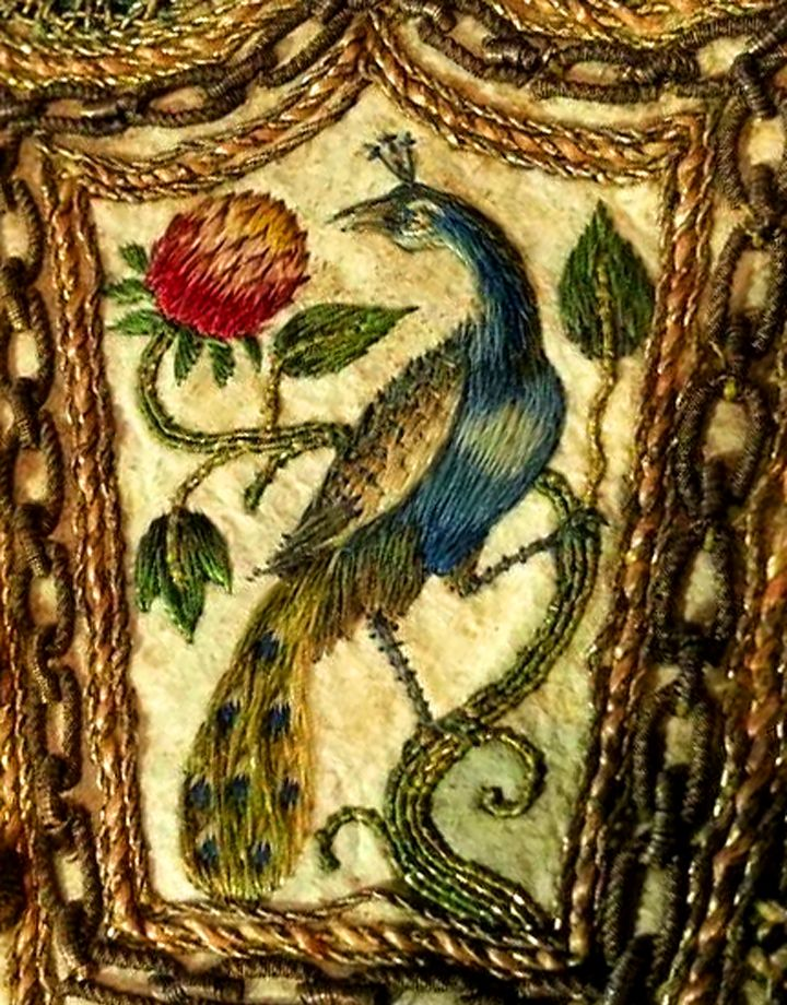 17th century embroidery at the Royal Armoury in Sweden: