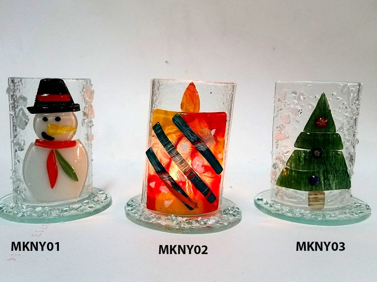 Wholesale, Decoration, christmas, 2017, new year, fused glass, handmade, tableware, houseware, gift, craft, glass art, candle holder, tealight, snowman, candle, Pine tree