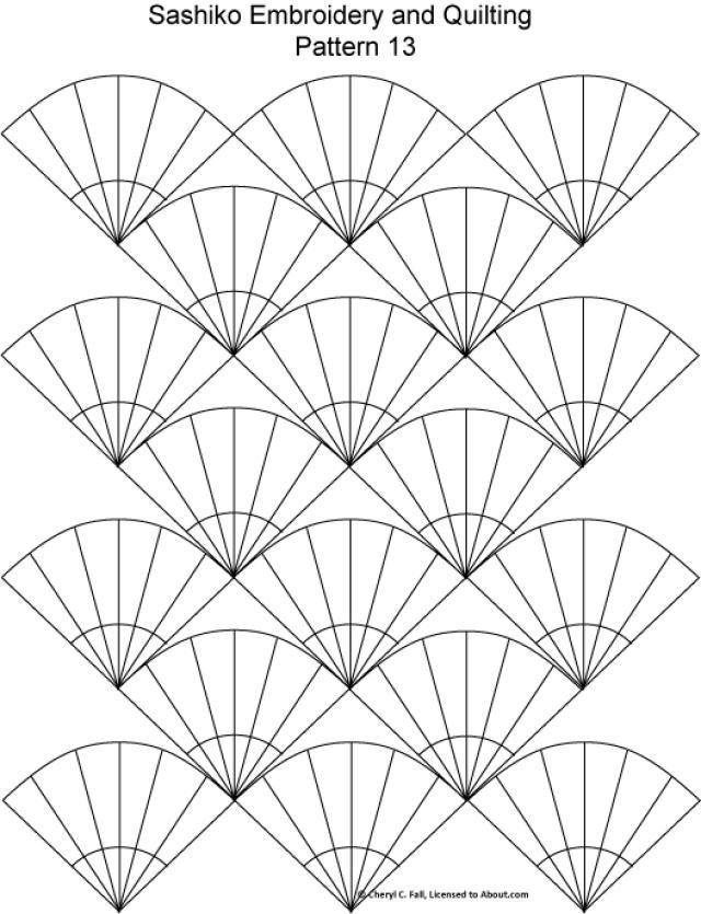 Sashiko Pattern 12: Sashiko Pattern 13