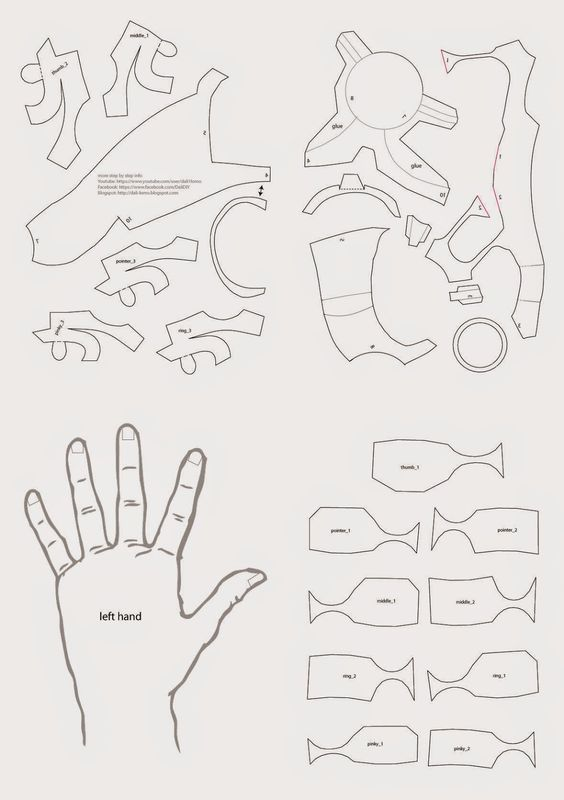 iron man hand diy with cereal box  pdf template