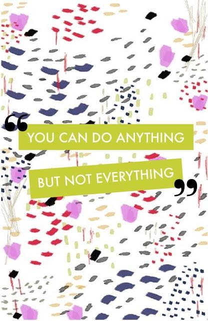 .Voor iedereen van ons die zich elke dag weer in de Ratrace stort: niet alles proberen te doen, hé!