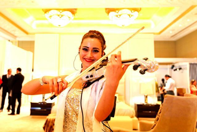 From cars to fine art, high-end jewellery & fashion, hand-crafted watches, designer furniture and even ancient artifacts, the World Luxury Expo housed carefully selected luxury items and leaders of their respective fields. The ambience was set by violinist Olga D who played a violin studded with 3,500 Swarovski crystals.