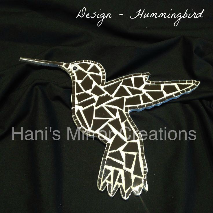 Mosaic Bird - Hummingbird  https://www.facebook.com/HanisMirrorCreations