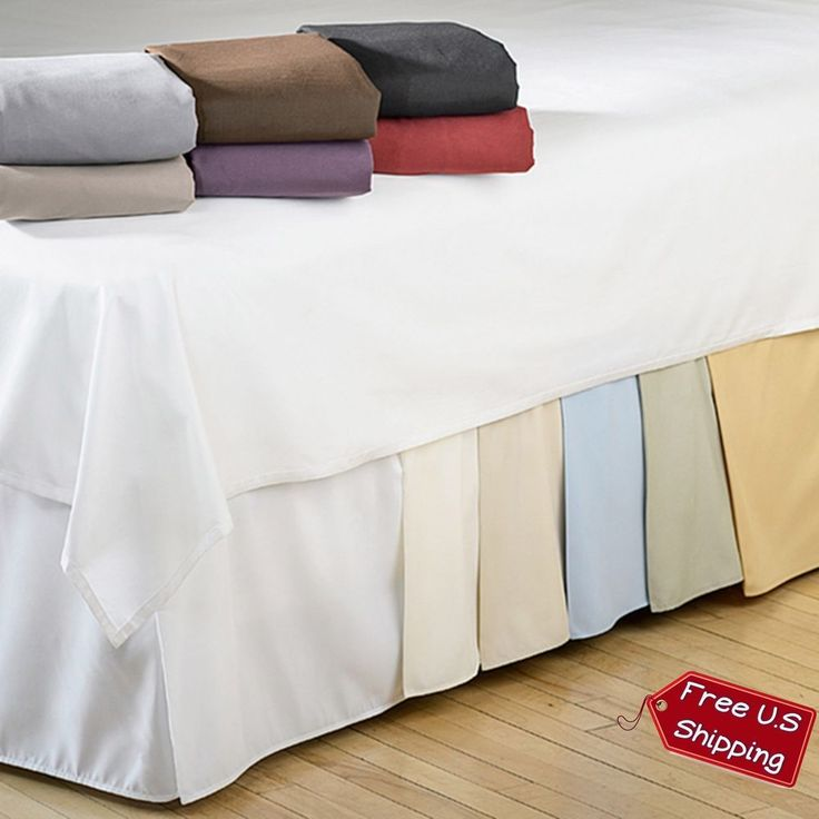 Microfiber Bedskirt 15 Drop Bed Skirt King Queen Twin XL Size Solid Decoration  #Modern