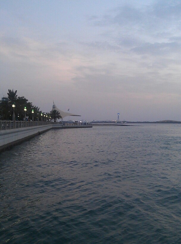 Along the Corniche in Abu Dhabi