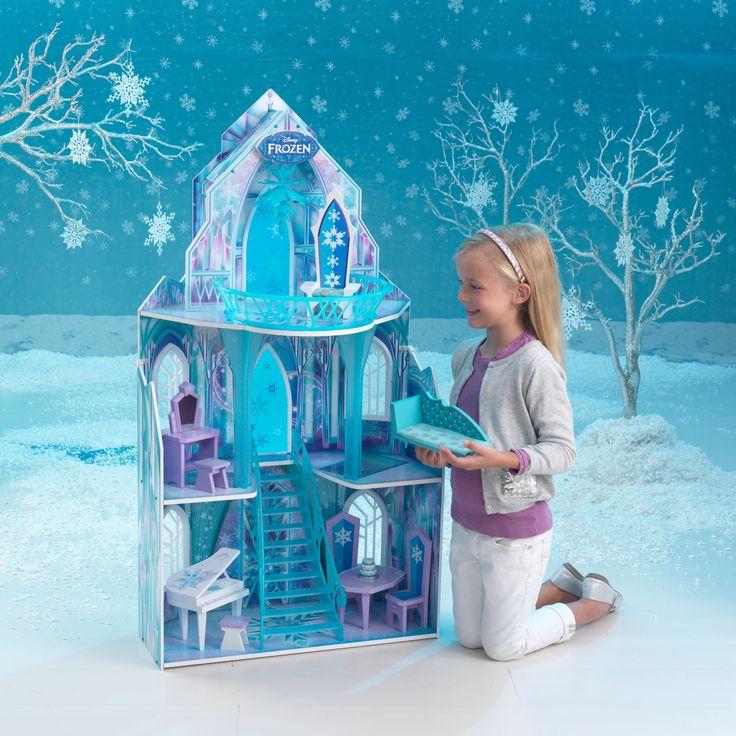 Kjempefint Frozen dukkehus fra KidKraft i solid kvalitet med møbler inkludert. Gratis frakt og rask levering på www.multitrend.no  #kidkraft #frozen #dollhouse #dukkehus