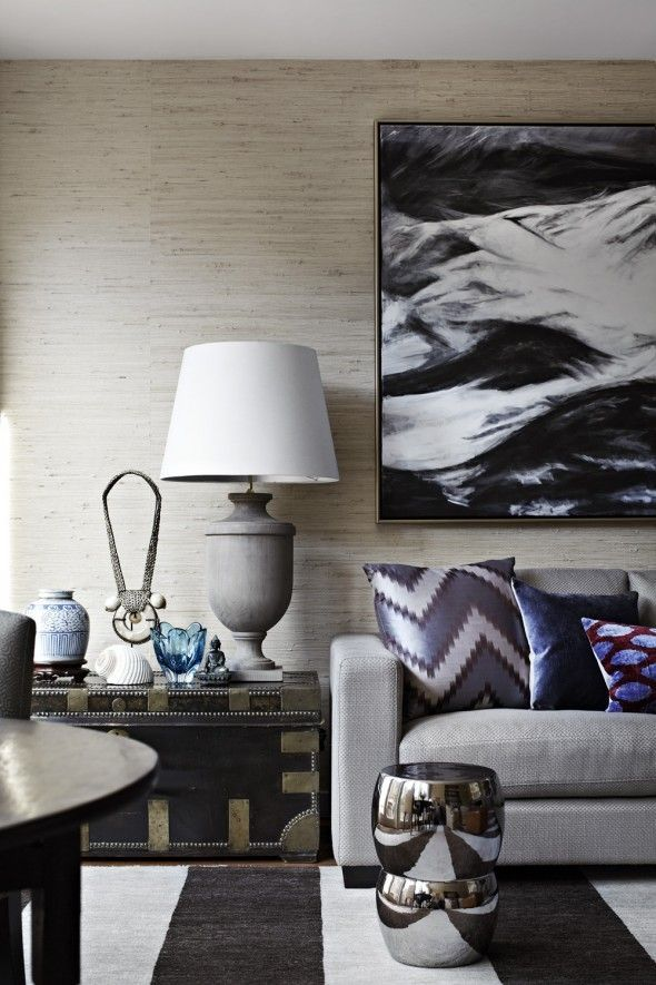 Love mixing textures and patterns in complimentary