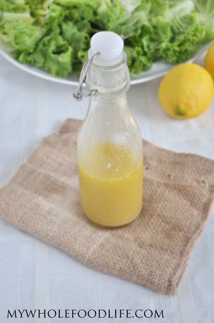 Homemade Lemon Vinaigrette - My Whole Food Life