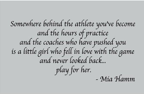 Somewhere behind the Athlete SPORTS 32x22 by ALastingExpression-love this quote!