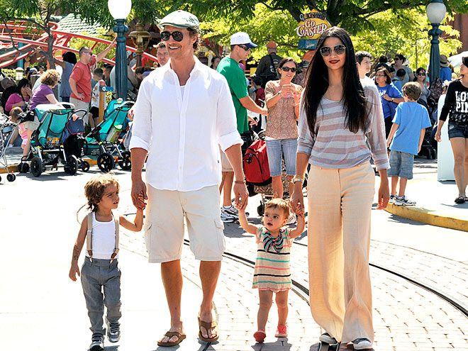 Matthew McConaughey and girlfriend Camila Alves enjoy a fun-filled family day at Disneyland with mini sidekicks Levi, 2, and Vida, 18 months