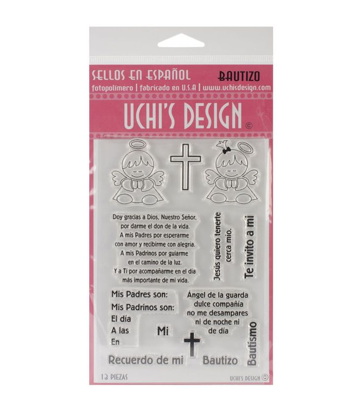 Uchiu0027s Design En Espanol Clear Stamp Set