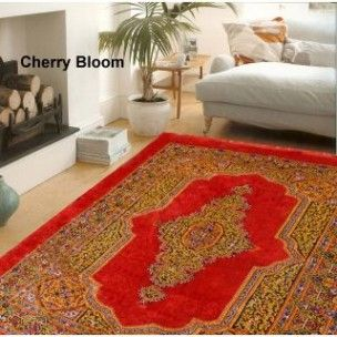Handloomwala Traditional Design Cherry Bloom Carpet ( 7 X 5 ft) List Price: Rs.699 Selling Price: Rs.649 Deal Price:Rs.264 only